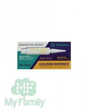Капли на холку Palladium Golden Defence для собак весом 20-30 кг