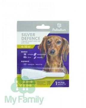 Капли на холку Palladium Silver Defence для собак весом 4-10 кг