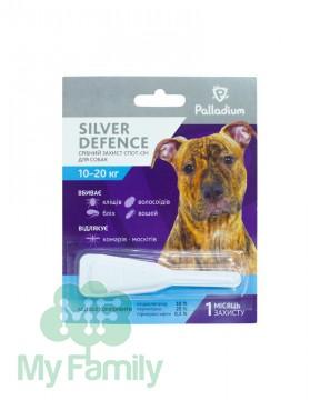 Капли на холку Palladium Silver Defence для собак весом 10-20 кг