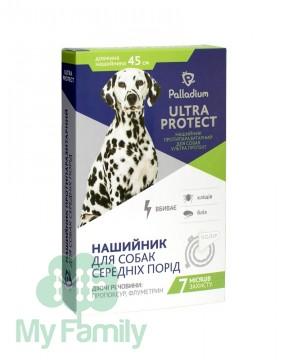 Ошейник Palladium Ultra Protect для средних собак белый