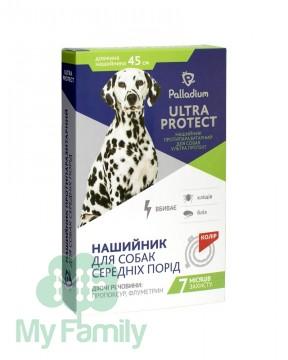 Ошейник Palladium Ultra Protect для средних собак красный