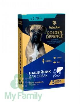 Ошейник от паразитов Palladium Golden Defence для собак белый