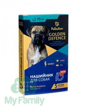 Ошейник от паразитов Palladium Golden Defence для собак красный