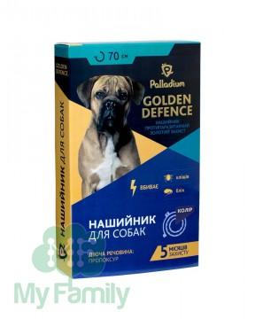 Ошейник от паразитов Palladium Golden Defence для собак синий