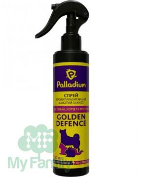 Спрей от блох и клещей Palladium Golden Defence для собак 250 мл
