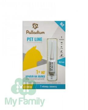 Капли на холку Pet Line №2 от блох и клещей для кошек более 1 кг