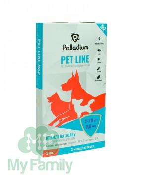Капли на холку Pet Line №2 от блох и клещей для собак 2-10 кг