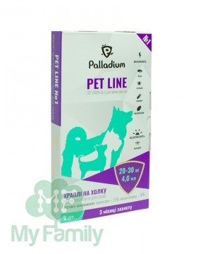 Капли на холку Pet Line №1 от блох и клещей для собак 20-30 кг