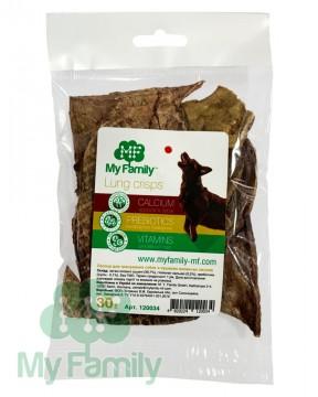 Чипсы из сушёных говяжьих легких для тренировки собак (30 г)