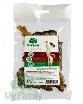 Чипсы из сушёного говяжьего рубца для тренировки собак (40 г)