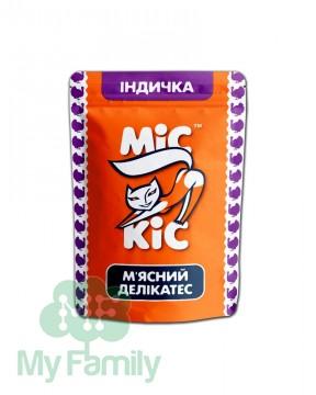 Мясные кусочки с индейкой для взрослых котов и котят, Міс Кіс™