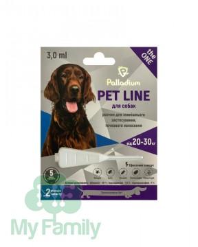 Капли на холку Palladium Pet Line the ONE для собак весом 20-30