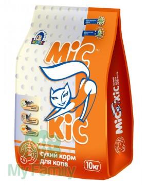 Сухой корм для котят и взрослых кошек с телятиной МіС КіС
