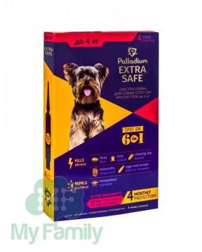Краплі на холку Palladium Extra Safe для собак вагою до 4 кг