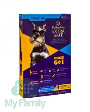 Краплі на холку Palladium Extra Safe для собак вагою 10-20 кг