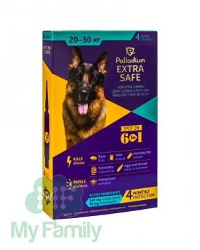 Краплі на холку Palladium Extra Safe для собак вагою 20-30 кг