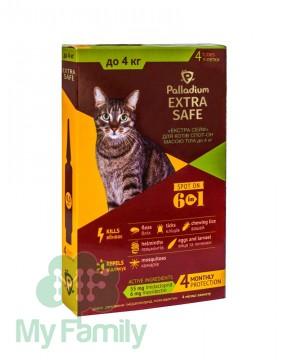 Краплі на холку Palladium Extra Safe для котів вагою до 4 кг